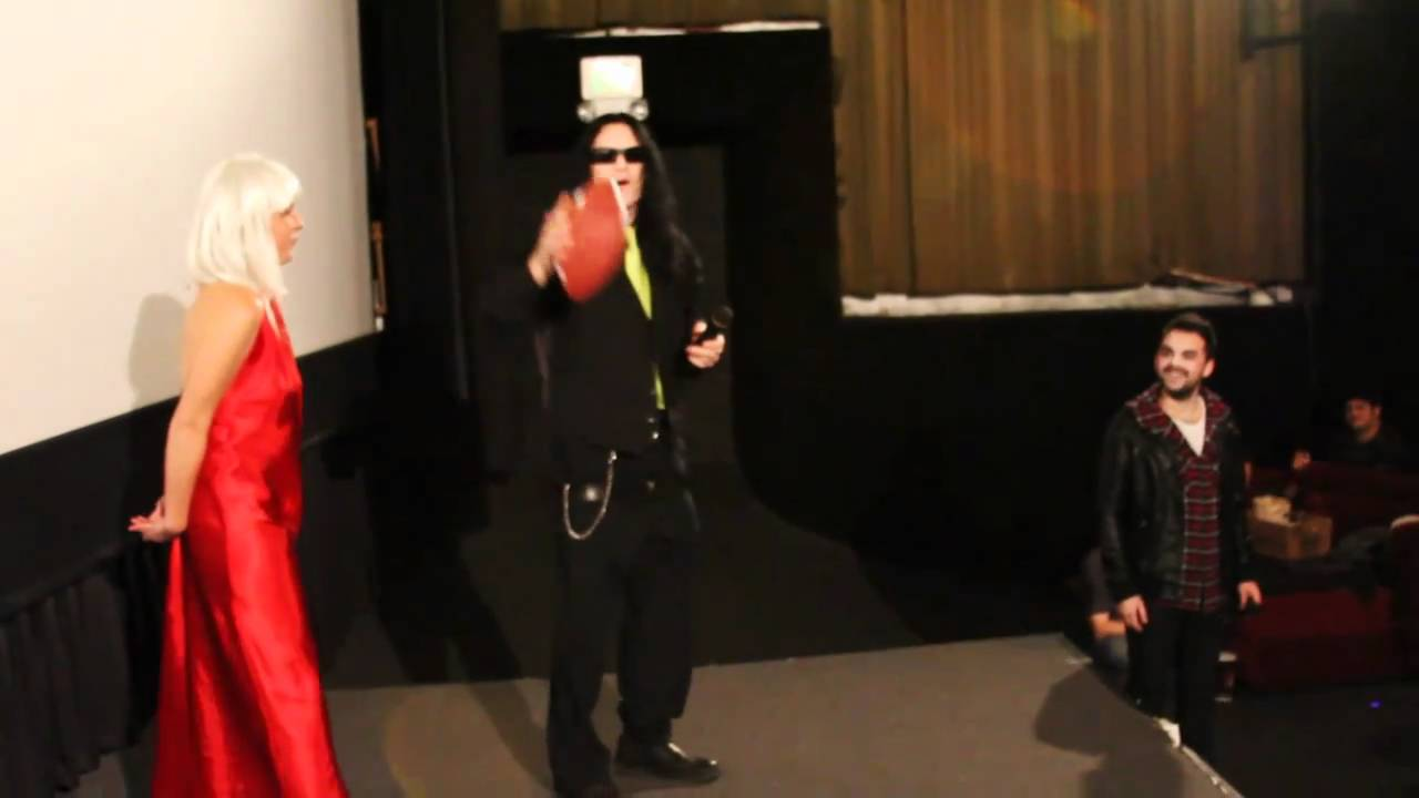 Tommy Wiseau Gets Hit By Football Youtube