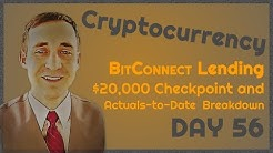 $20K BitConnect, Day 56: Performance Checkpoint, Breakdown of Actuals-to-Date