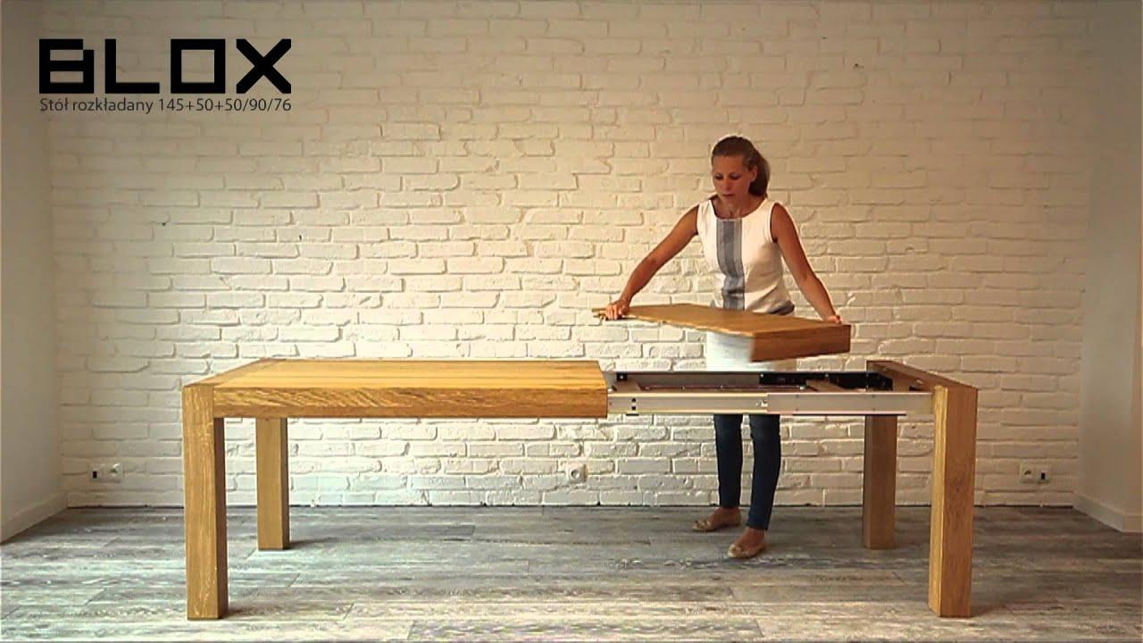 miloni st243� blox drewniany rozk�adany st243� do kuchni
