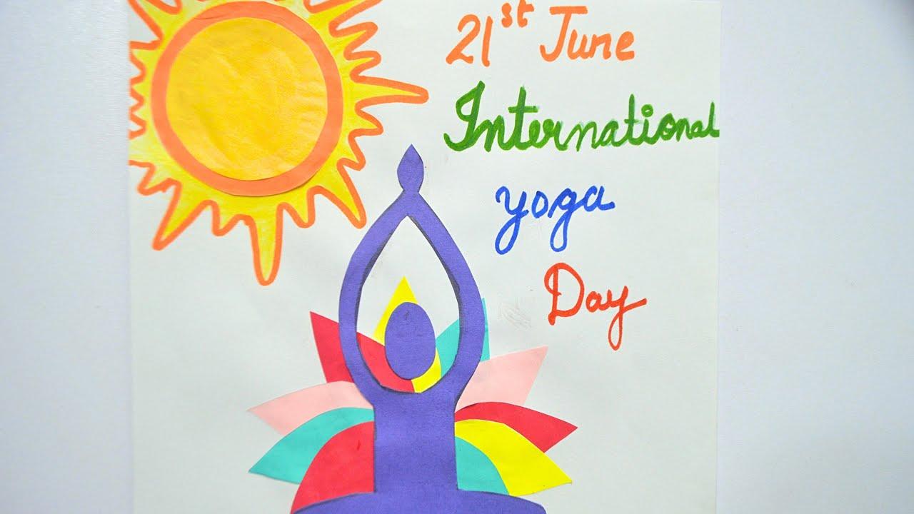 World International Yoga Day Yoga Day Poster Poster On Yoga Day Poster Making Competition Youtube
