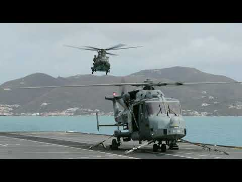 HMS Ocean delivers aid to the British Virgin Islands