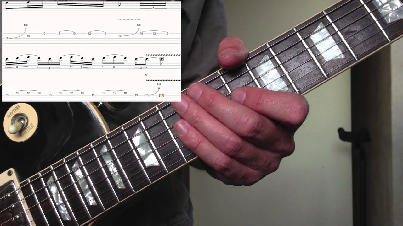 guitar lesson dm blues lick using blues scale youtube