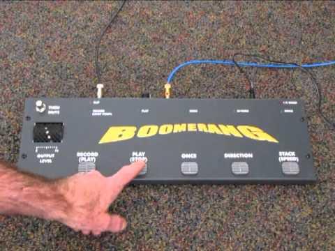 Boomerang Phrase Sampler Part 1 of 3 - YouTube