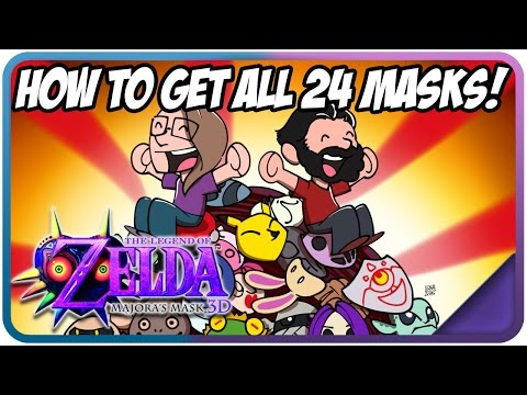 How To Collect ALL 24 Masks in Majora's Mask 3D/Nintendo 64 - Completion Bonus