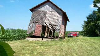 Tearing Down A Corn Crib