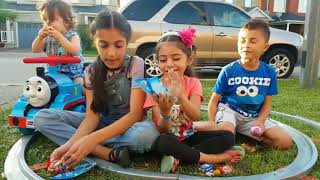 Thomas The Tank Engine Power Wheels ride on train for kids Pretend Play