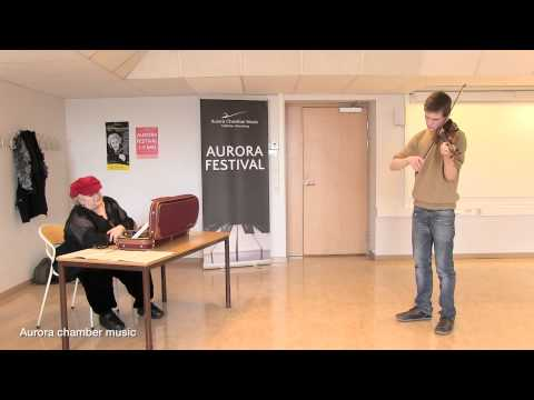 Masterclass with Dora Schwarzberg. Aurora chamber music spring festival 2013