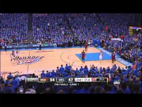 Russell Westbrook Shane Battier double techs in Game 1