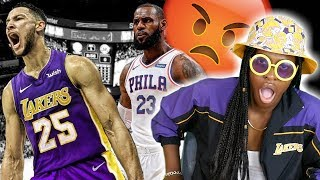 LAKERS FAN REACTS TO BEN SIMMONS FOR LEBRON TRADE RUMORS! NOT ON MY WATCH!