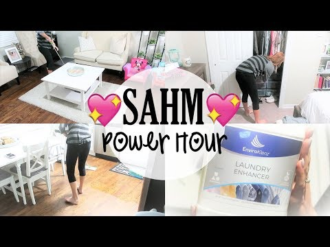 STAY AT HOME MOM POWER HOUR ll CLEAN WITH ME AFTER DARK ll CLEANING MOTIVATION ll ENVIROKLENZ