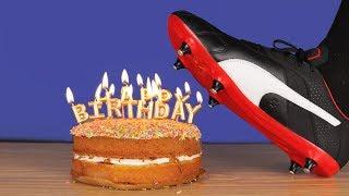 Crushing Crunchy & Soft Things! EXPERIMENT,Football Boots vs Birthday Cake