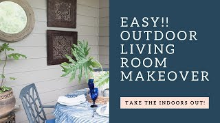 EASY!  OUTDOOR Living Room MAKEOVER on the DECK! & BUDGET FRIENDLY!
