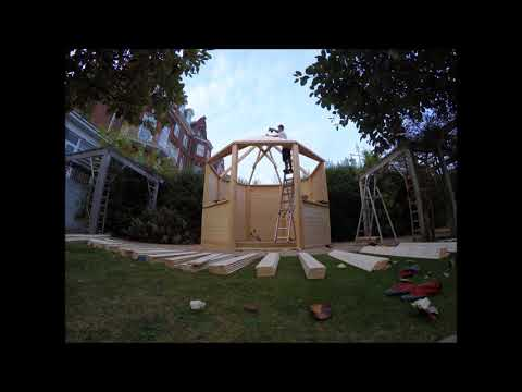 Time Lapse Of A Wedding Gazebo At The Hotel Victoria, Lowestoft