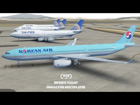 Infinite Flight Global Korean Air Airbus A330 - 300 - Incheon - Kansai