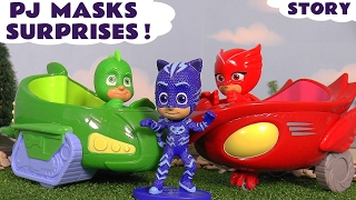 PJ Masks Toys and Surprise Blind Bags helped by Thomas and Friends and Paw Patrol  TT4U