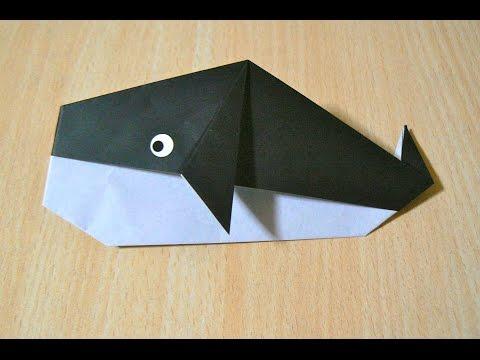 balina nasıl yapılır. Origami. kağıt katlama sanatı.