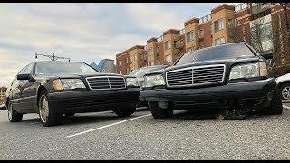 Mercedes W140 vs бордюр, на скорости 160 км/ч