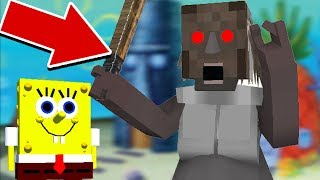 Monster School : SPONGEBOB GRANNY HORROR GAME CHALLENGE - Minecraft Animation