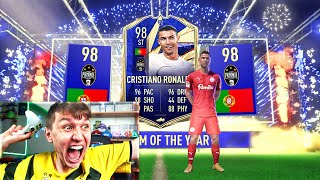 FIFA 21 - TOTY RONALDO IN A PACK!!! (1st IN THE WORLD)