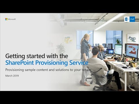 Getting started with the SharePoint Provisioning Service