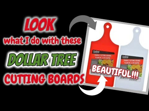 LOOK what I do with these Dollar Tree CUTTING BOARDS | DOLLAR TREE DIY