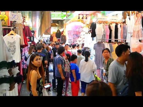 Pratunam Market Walk Around - Shopping in Bangkok 2017