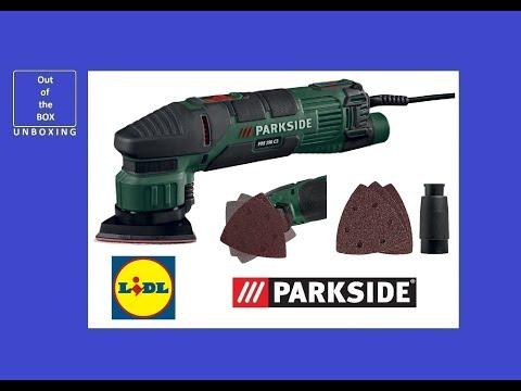 Parkside Delta Sander PDS 290 C3 UNBOXING (Lidl 22,000 min-1 290W 3m)