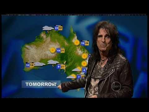 Alice Cooper weather update - ROVE (Australia)