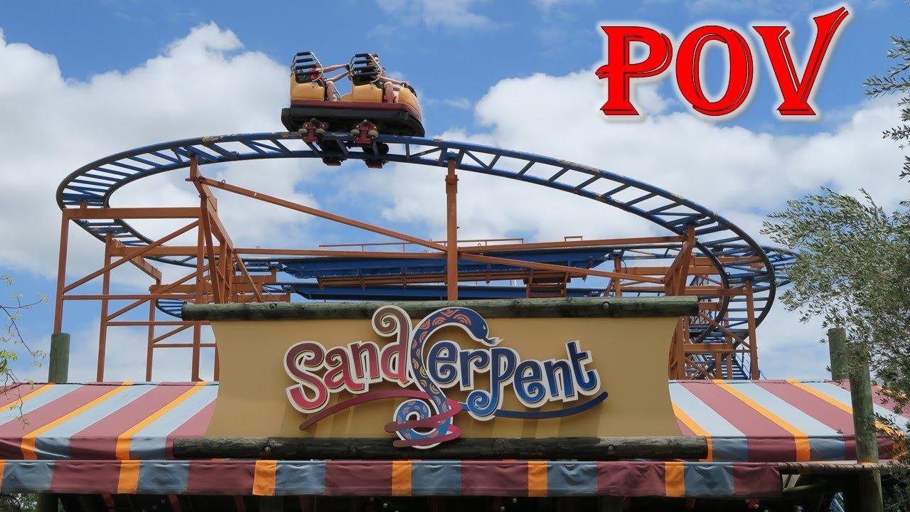 Sand Serpent POV, Busch Gardens Tampa Mack Wild Mouse   Non-Copyright