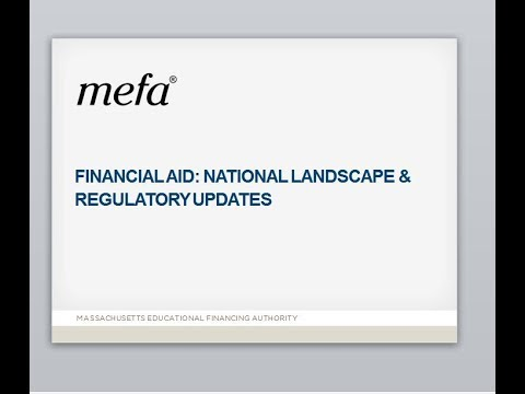 Financial Aid: National Landscape & Regulatory Updates