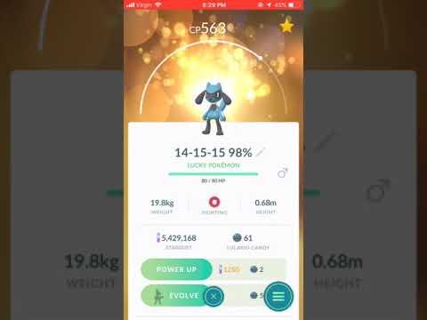 See description Pokémon GO Try your lucky chance Riolu