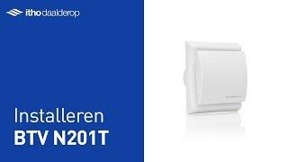 Installeren BTV N201T - badkamer- en toiletventilator