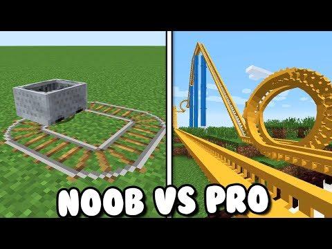 MONTAÑA RUSA NOOB VS PRO EN MINECRAFT thumbnail