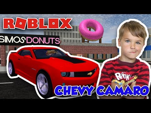 MY CLASSIC RED CHEVY CAMARO in ROBLOX VEHICLE SIMULATOR | DRAG RACES | CAR STUNTS |MY OWN DONUT SHOP