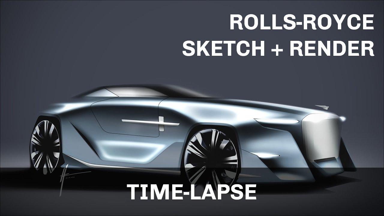 Rolls Royce Car Design Render Photoshop YouTube