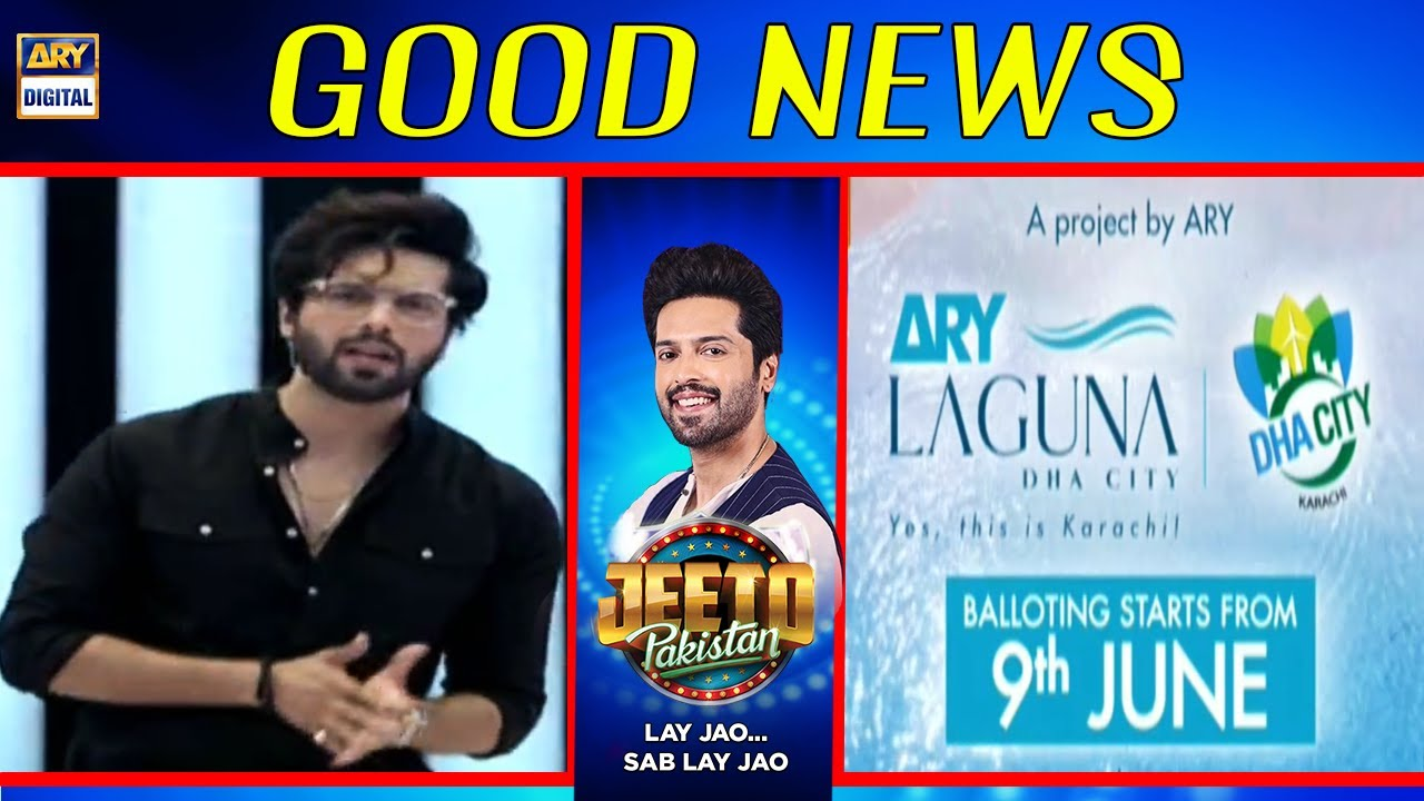 Good News for Custumers of ARY Laguna City - Fahad Mustafa | Jeeto Pakistan