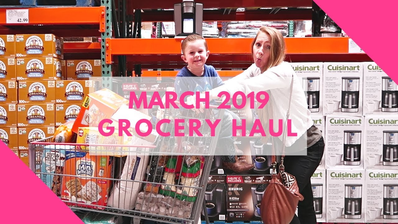 83f27de6229 March 2019 Monthly Grocery Haul on a Budget - YouTube