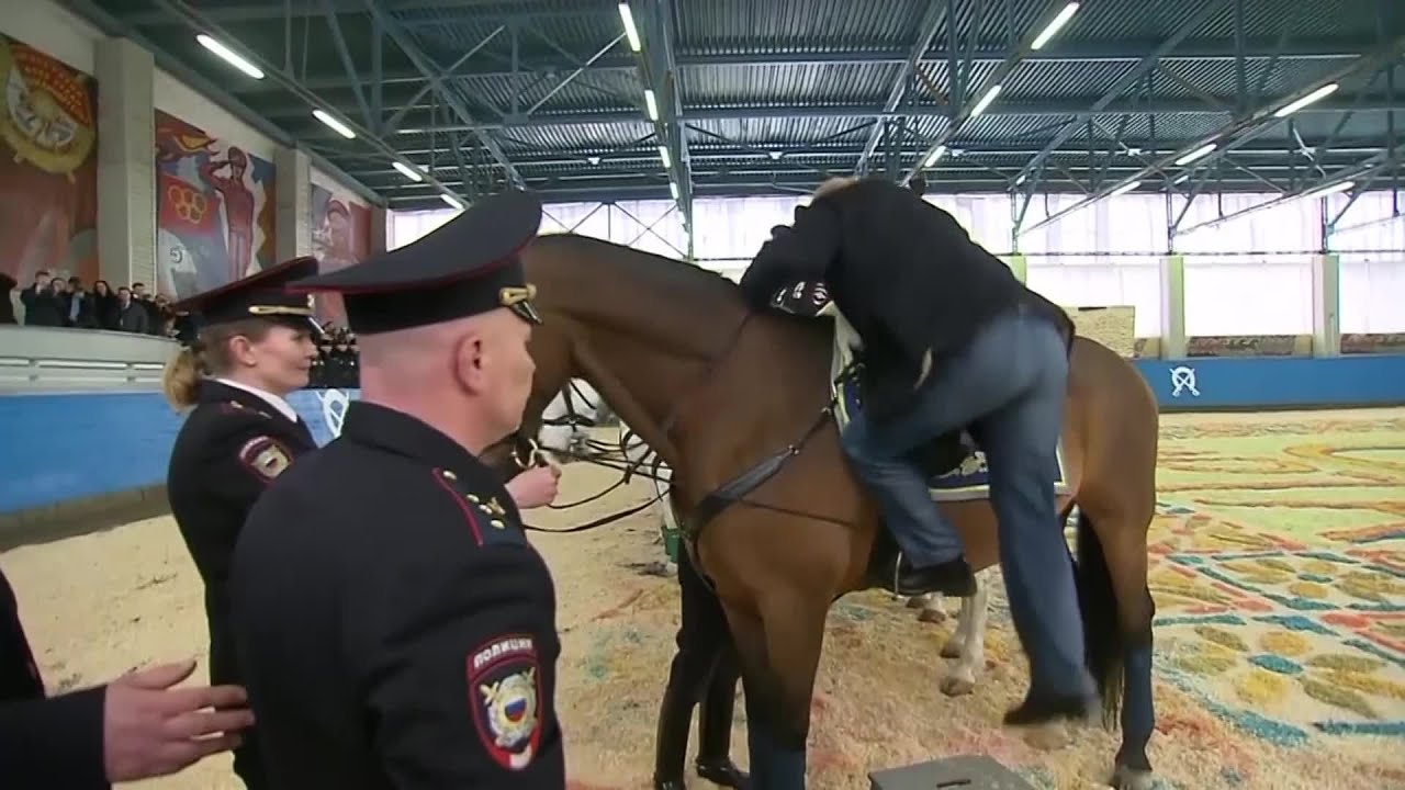 Video Russian President Vladimir Putin Went Horseback Riding In Moscow Thursday Youtube