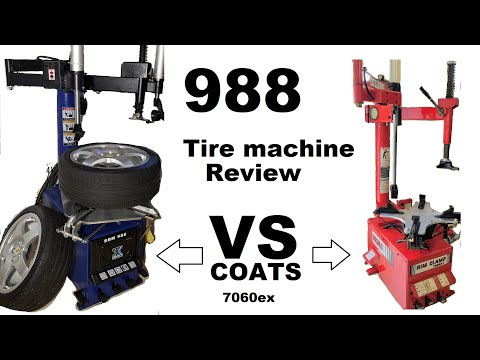 988 / 680 Chinese Tire Machine Review And Demonstration With Low Profile Tire