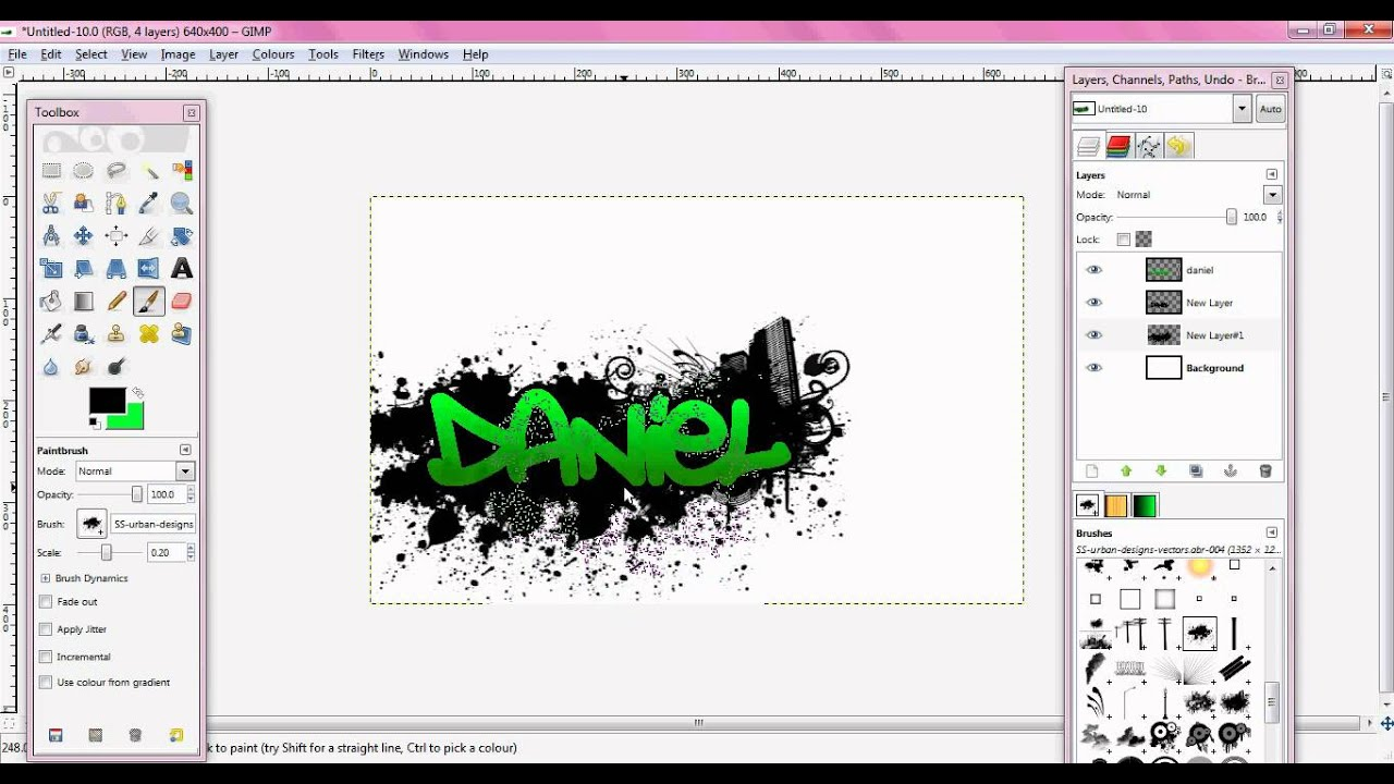 How to make a graffiti style background