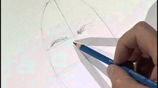 Drawing the parts of a human face 1 / Dibujo de las partes de un rostro 1