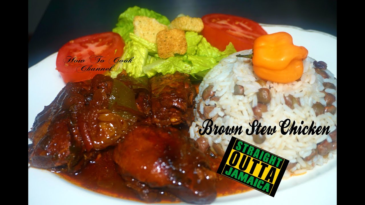 let cook jamaican authentic brown stew style chicken with