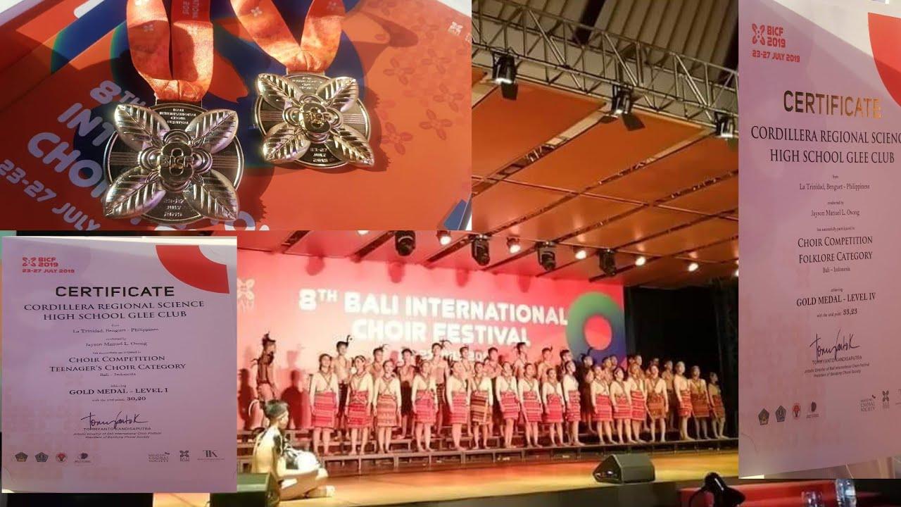 8TH BALI INDONESIA 2019 CHOIR FESTIVAL#CORDILLERA REGIONAL SCIENCE HIGH  SCHOOL GLEE CLUB#