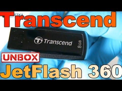 Transcend JetFlash 360 8GB распаковка тестирование