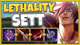 *INSANE DAMAGE* 100% LETHALITY SETT BROKE THE GAME (ONE AUTO KILLS) - League of Legends