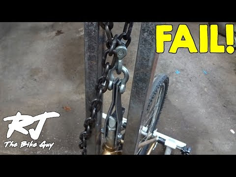 Making  A Tool To Remove Stuck Seatpost - Test 1 - FAIL