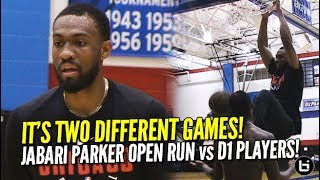 Jabari Parker & Pros Showing Out vs College Joes! Chicago Open Run Highlights!