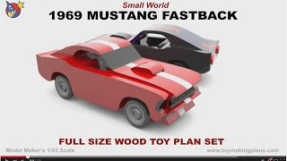 Wood Toy Plans - Small World 1969 Mustang