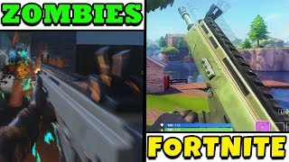 FORTNITE WEAPONS IN ZOMBIES.....