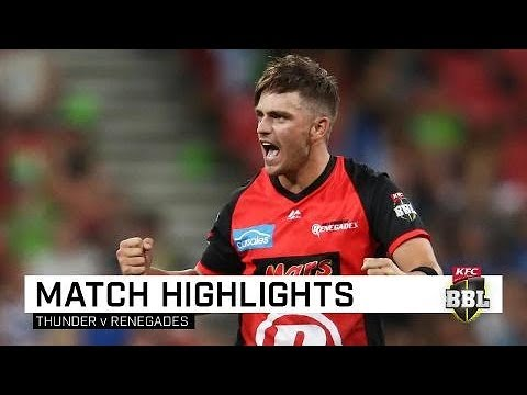 Renegades up to second after win | KFC BBL|08